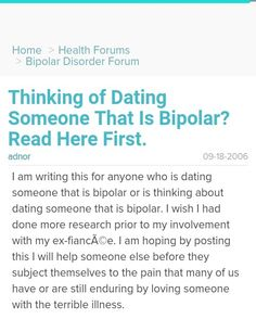 Healthful doesn't With Disorder Bipolar Dating Someone For Tips are up-to-date