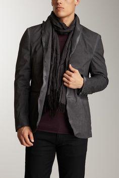 John Varvatos Lapel Collar Soft Jacket
