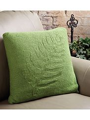 Lady Fern Pillow Knit Pattern