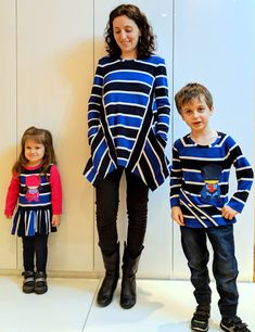 I believe I can sew...: Big stripes for kids as well and 5th Butterick 6492