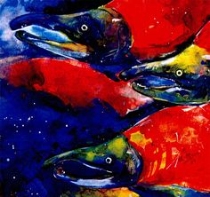 Sockeye Salmon ... Beautiful print from by KathyMortonStanion, $20.00