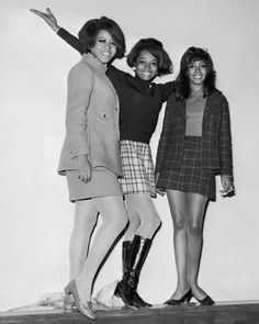 """ladiesofthe60s: """" The Supremes looking stylish and in high spirits, 1962. """""""