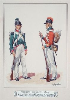 French; 4th Light Infantry Brigade, Chasseur & 9th Line Infantry Brigade, Fusilier Corporal, Tenue de Drap, Egypt, 1800