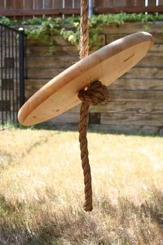 How to Make a Rope Swing - I added a little more incentive to go outside by making a simple rope swing for our backyard tree. I used a few supplies found at any…