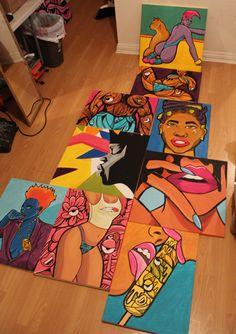 Carnivour Creates — of the original DirtyAmbitions show. Hippie Painting, Trippy Painting, Cartoon Painting, Cute Canvas Paintings, Small Canvas Art, Mini Canvas Art, Arte Black, Arte Indie, Posca Art