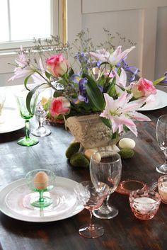 Depression Glass Table Setting
