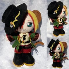 Mini Plushie, Pierce Villiers by ThePlushieLady on DeviantArt Nerd Crafts, Diy Crafts, Anime Diys, Plushies, Alice In Wonderland, Needlework, Chibi, Minnie Mouse, Geek Stuff