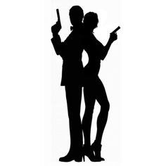 james bond silhouettes diy project diy pinterest. Black Bedroom Furniture Sets. Home Design Ideas