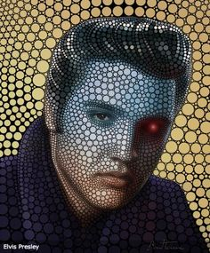 Retratos de famosos con círculos por Ben Heine