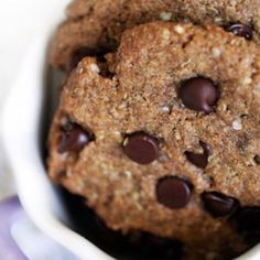 Delicious quinoa chocolate chip cookies--gluten-free(recipe via the vegan godess)