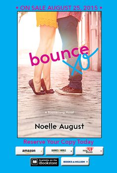 Cover Reveal: Noelle August's Bounce