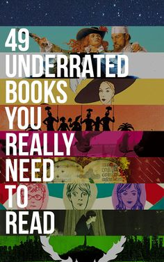 49 Underrated Books You Really Need to Read - Under-read, overlooked, and forgotten books that everyone will love. I Love Books, Good Books, Books To Read, My Books, Story Books, Free Books, I Love Reading, Reading Lists, Book Lists