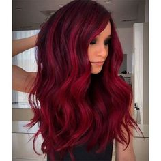 Red Hair Color Shade Ideas for Every Skintone In 2020 Guy Tang S Rich Crimson Red Haircolor formula In 2020 Hair Color Shades, Hair Color Dark, Cool Hair Color, Red Burgundy Hair Color, Magenta Hair Colors, Red Ombre Hair, Red Hair Dye For Dark Hair, Dark Hair With Red, Red Hair For Fall