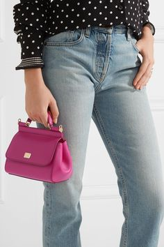 Dolce & Gabbana | Sicily mini textured-leather shoulder bag | NET-A-PORTER.COM