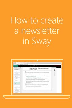 Make your newsletters a team effort…effortlessly! Use Sway's collaboration feature to allow  your staff to create a newsletter together. #MSFTEDU