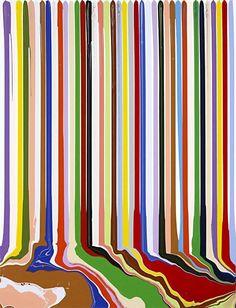 Ian Davenport Puddle Painting: White, 2008 acrylic paint on aluminum,