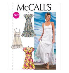 M6749, Misses' Lined Dresses McCALLS