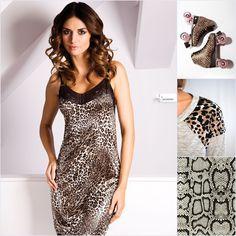NATASHA #nightwear #underwear #unikat #animalprint #lace #lingerie #black #sleep #natasha