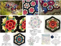 It is necessary just to learn to knit florets and to connect them in beautiful plaids) // Светлана Калинина Crochet Flower Patterns, Crochet Mandala, Crochet Motif, Irish Crochet, Crochet Flowers, Diy Crochet Granny Square, Crochet Squares, Crochet Blocks, Granny Pattern