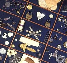 Foundling Museum:Love tokens    The love tokens at the Foundling Hospital as it was are said to have been a great influence on Charles Dickens when he came to write Oliver Twist.