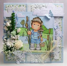 Card Created by Mandy using Magnolia Stamps and Simon Says Stamps Exclusive Dies. July 2013