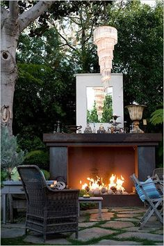 90 top Choices Backyard Fireplace Design Ideas - How to Build A Multi Purpose Fire Pit for Your Backyard some Outdoor Inspiration Outdoor Areas, Outdoor Rooms, Outdoor Living, Outdoor Decor, Outdoor Lounge, Outside Living, Decoration Design, Outdoor Entertaining, Dream Garden
