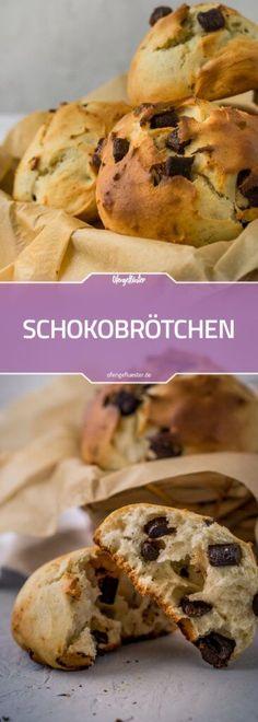 Schokobrötchen aus Quark-Öl-Teig #rezept #schokolade #brötchen