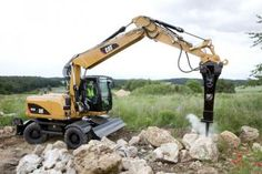 The M313D and M315D wheeled excavators from Caterpillar now have a welded undercarriage that allows a blade to be used front or rear, with or without outriggers at the nonblade end.