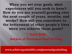 Goal Quotes, Success Quotes, Personal Goal Setting, Set Your Goals, Motivation Goals, Motivate Yourself, Other People, Author, Good Things
