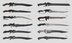 Anime Weapons, Sci Fi Weapons, Weapon Concept Art, Weapons Guns, Fantasy Sword, Fantasy Weapons, Fantasy Art, Cool Swords, Future Weapons