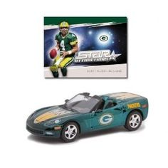 Upper Deck Collectibles NFL Corvette with Card in Display Green Bay Packers - Brett Favre by Upper Deck  $18.79