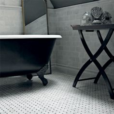 Hexagon Mosaic, Honed - Bridgehampton Marble - Wall & Floor Tiles | Fired Earth