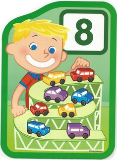 Numero 8 lámina, imagen, imprimir, preescolar, matematicas matemáticas número LAKESHORE