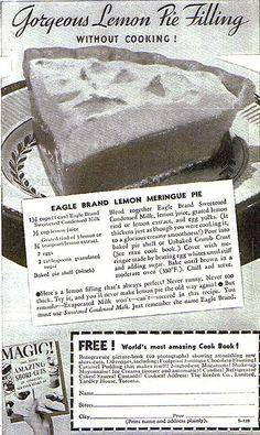 1935 Eagle Brand - Lemon Meringue Pie