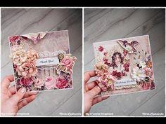 My Creative Scrapbook: Start to Finish Vintage Romantic Card Process Video by Marta Lapkowska