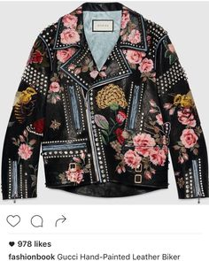Gucci Leather Jacket, Gucci Coat, Leather Coats, Leather Biker Jackets,  Motorcycle Jackets 0e6a5aab01