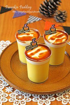 ハロウィン簡単かぼちゃプリン☆ふわとろ珈琲クリーム乗せ