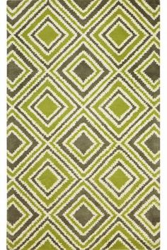 I think I found my perfect rug - citron, gray, and wool.