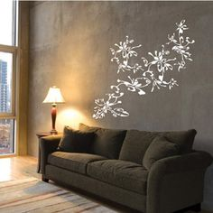 Stick On Wall Art could be cute in my bedroom. but aren't birds bad luck? birds on a