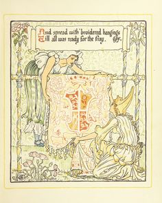 Image taken from page 25 of 'Queen Summer; or, the Tourney of the lily & the rose. Penned & portrayed by Walter Crane' | by The British Library
