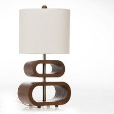 """Liam Topsy Turvy 20"""" H Table Lamp with Drum Shade"""