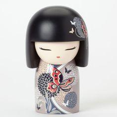 KIMMIDOLL Japanese Kokeshi Figurine Maxi Doll Butterfly 4040720 AYANA COLORFUL