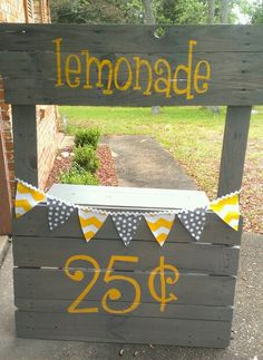 Lemonade stand!! I'm The Art Junky and I create unique decor in the Panhandle of Florida! Look us up on facebook.