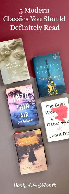 From authors like Junot Diaz to Jon Krakauer, these books are destined for classic status. Head to bookofthemonth.com and start reading for $10 per book.