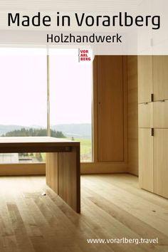 Markus Faißt und seine Mitarbeiter von der Holzwerkstatt in Hittisau fertigen Möbelstücke, die Position beziehen - made in Vorarlberg. Zeitgemäßes Design, effizient-schonende Arbeitsmethoden und nachhaltiger Umgang mit den Rohstoffen sind für den Holz-Virtuosen selbstverständlich. Divider, Room, Furniture, Videos, Home Decor, Wood Workshop, Contemporary Design, Nice Asses, Bedroom