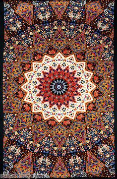 India Earth Star Hippie Tapestry or Twin Bedspread