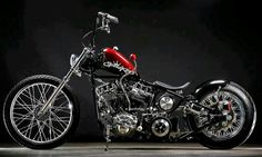 Panhead with a suicide shifter