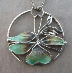 Norman Grant Scottish Silver Turquoise Enamel Art Nouveau Style Pendant 1983 | eBay