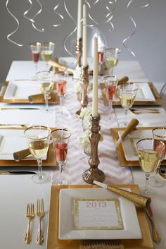New Year's table setting.