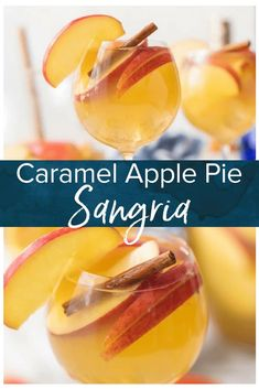 Apple Pie Sangria is Apple Pie Sangria is light refreshing easy and delicious! The hit of every party I take it to! Apple Cider Caramel Vodka White Wine Ginger Ale and more! The Cookie Rookie has Sangrias for every occasion! Apple Pie Sangria, Caramel Apple Sangria, Caramel Vodka, Caramel Apples, White Sangria Recipes, Apple Pie Drink, Apple Cocktails, Best Sangria Recipe, Caramel Pie